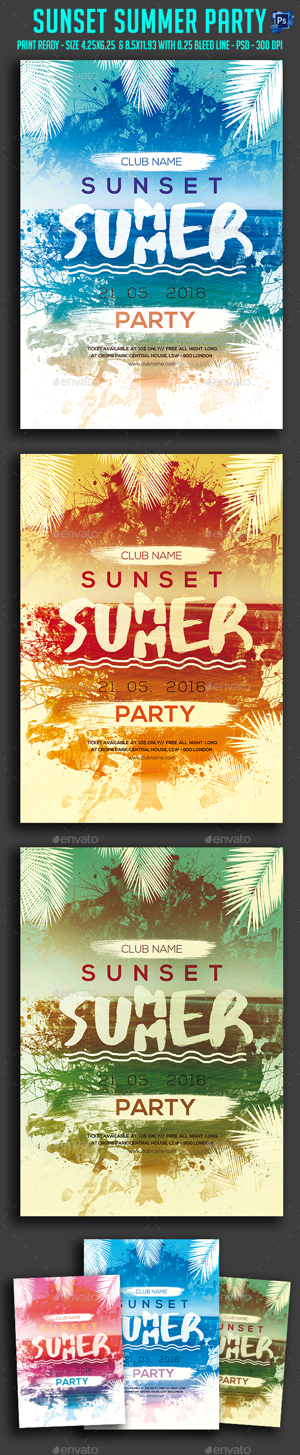 Sunset Summer Party Flyer
