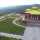 A Bird's-eye Video Shooting Drone Buddhist Temple In Ulan-Ude, Republic Of Buryatia, Russia