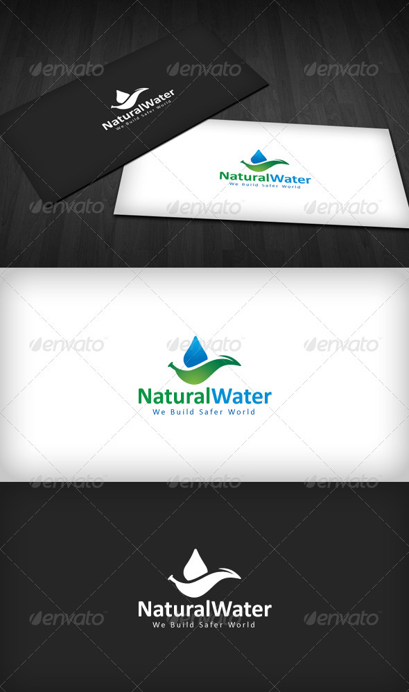 Natural Water Logo - Nature Logo Templates