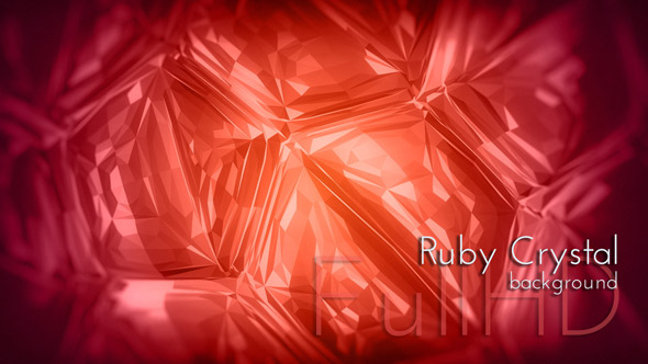 Ruby Crystal - Abstract Taustat Motion Graphics