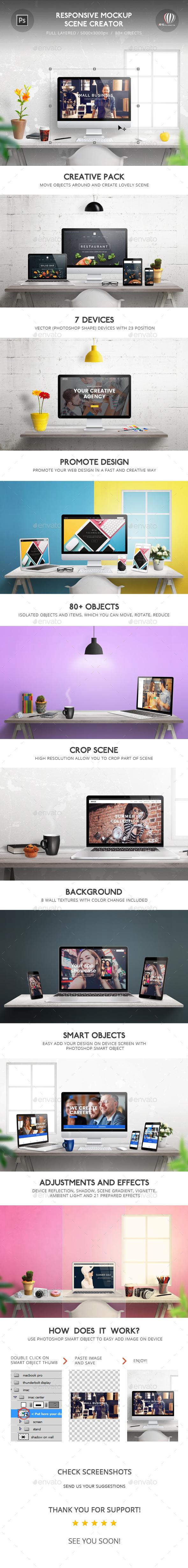 Responsive Mockup Scene Creator (Displays)