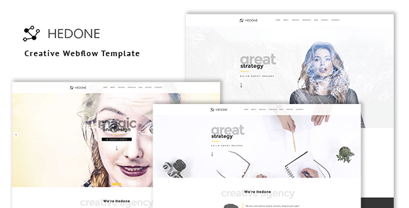 Hedone - Creative Webflow Template