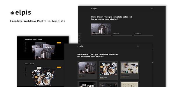 Image of Elpis - Creative Webflow Portfolio Template