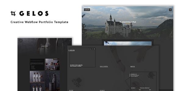Gelos - Creative Webflow Portfolio Template