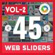 Multipurpose Web Sliders(Vol-2) - 45 Designs