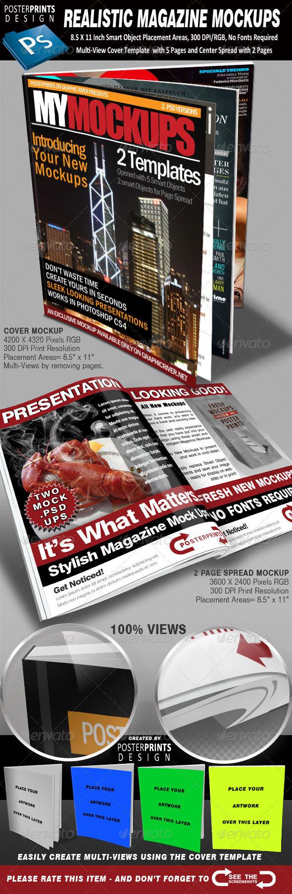 GraphicRiver 2 Realistic Magazine Mockups 867408