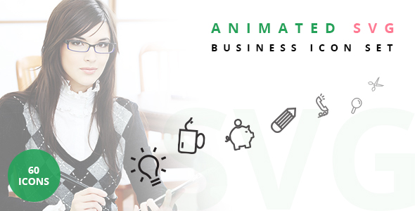 Animated SVG Business Icon Set - CodeCanyon Item for Sale