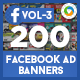 Facebook Ad Banners(VOL-03) - 200 Designs