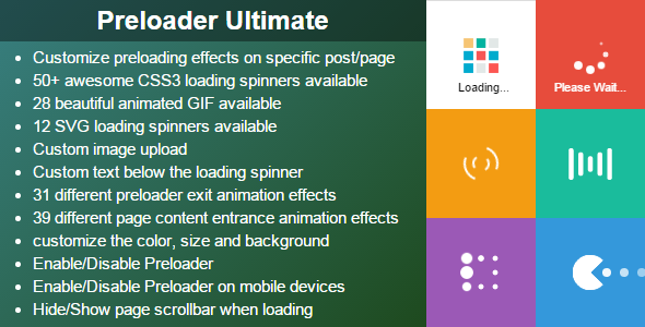 Preloader Ultimate - WordPress Plugin