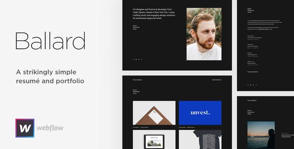 Image of Ballard - Personal Portfolio & CV Webflow Theme