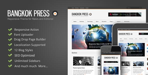 Bangkok Press - Responsive, News & Editorial Theme - introduction