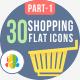 30 shopping & e-commerce Flat Icons 1