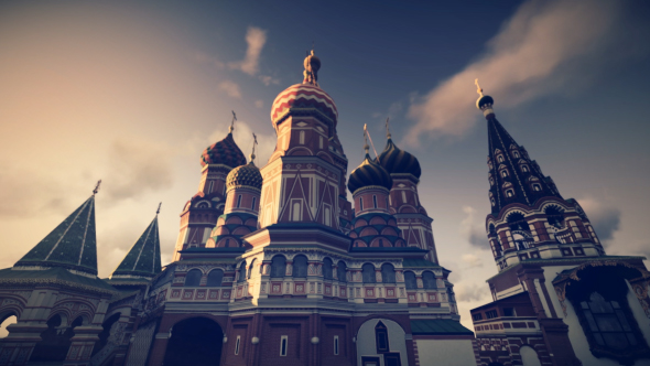 3D Pyhän Vasilin katedraali - 3D, Object Taustat Motion Graphics