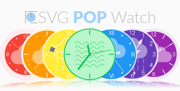 SVG POP Watch - A Responsive Animated SVG Watch Engine - CodeCanyon Item for Sale