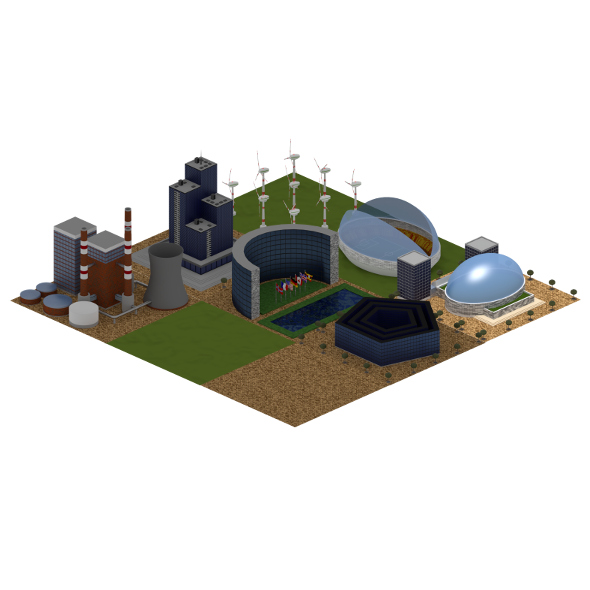 Game Buildings - 3DOcean Item for Sale