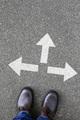 Decision decide business concept goals success solution job work