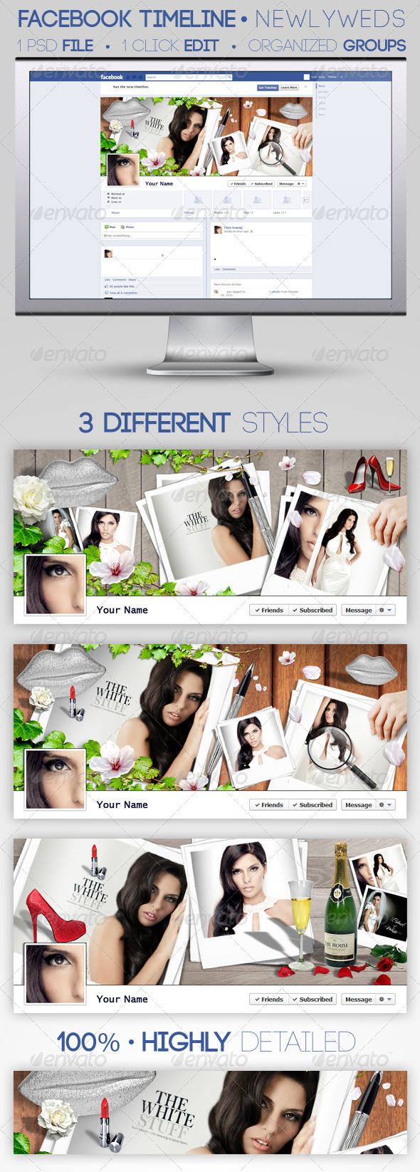 GraphicRiver 3 Facebook Timeline Covers Newlyweds 1613783
