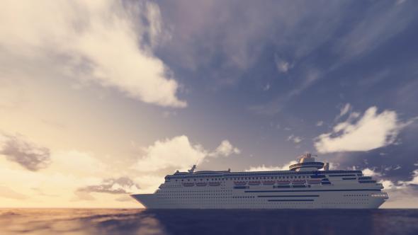 Risteilyalus On The Sea - 3D, Object Taustat Motion Graphics