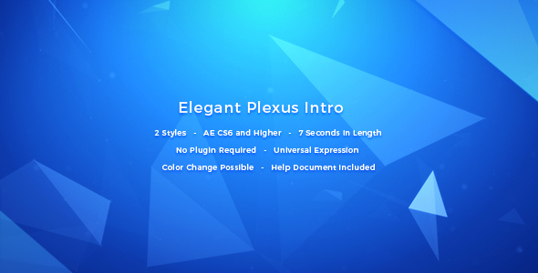 Elegantti Plexus Intro - Corporate avaajat After Effects Project Files