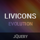 LivIcons Evolution for jQuery – The Next Generation of the Truly Animated Vector Icons (Animated SVGs) Download