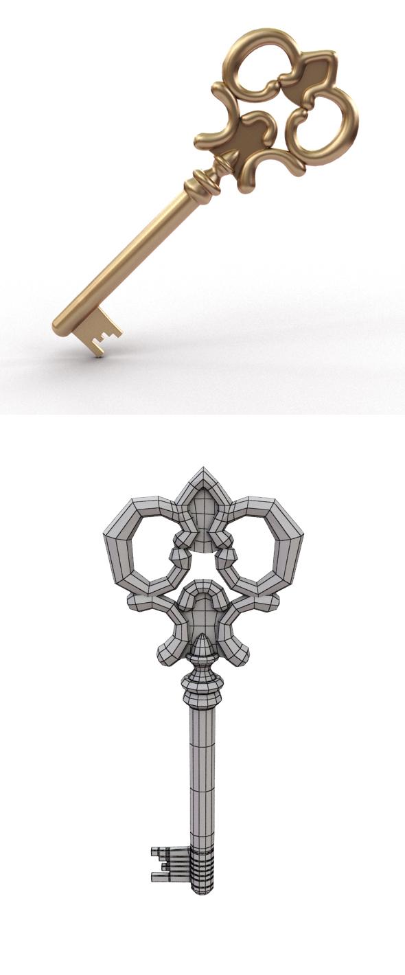 Golden Key - 3DOcean Item for Sale