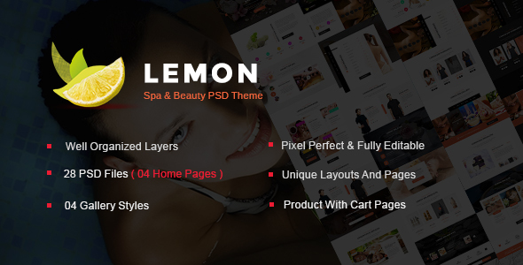 Lemon - Spa and Beauty PSD Template