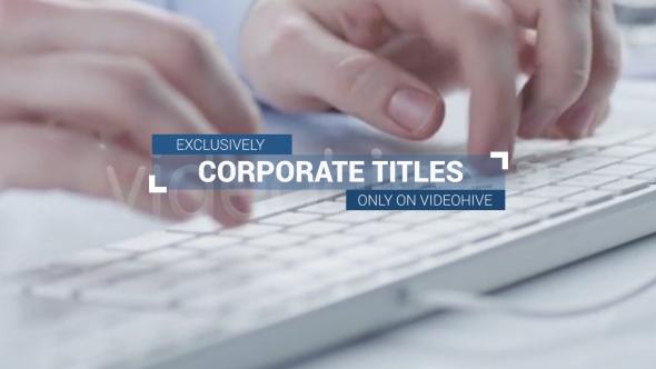 Corporate osastot ja Ala Thirds Plus - Corporate osastot After Effects Project Files