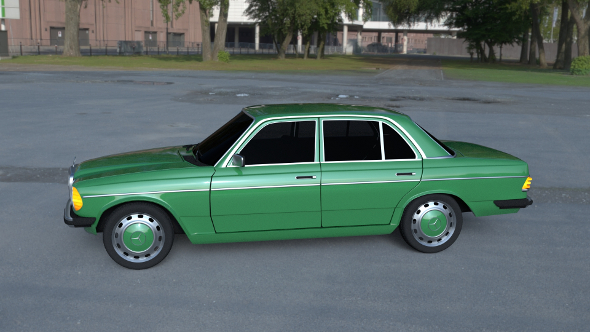 Mercedes-Benz W123 HDRI - 3DOcean Item for Sale