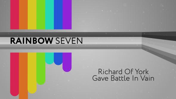 VideoHive The Rainbow Seven 16134662