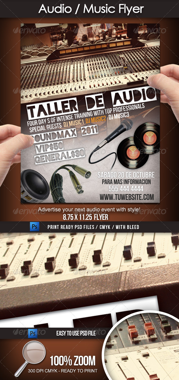 GraphicRiver Audio Sound Music Flyer 1027695