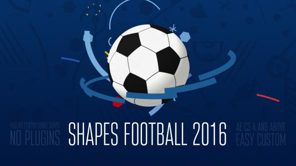 Muodot jalkapallo (jalkapallo) 2016 - Urheilu Logo pistot After Effects Project Files