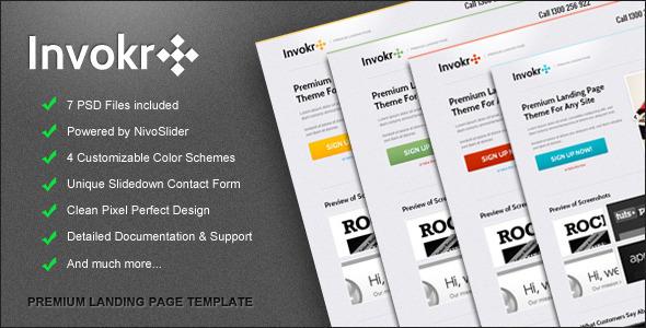 ThemeForest Invokr Premium Landing Page 1541570