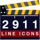 Set of 2911 Line Icons