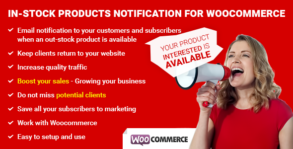 Download In-Stock Product Notification for WooCommerce nulled download