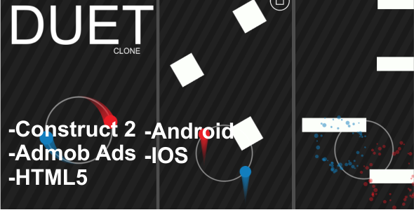 DUET Clone - HTML5, ANDROID, IOS Mobile Game + Admob