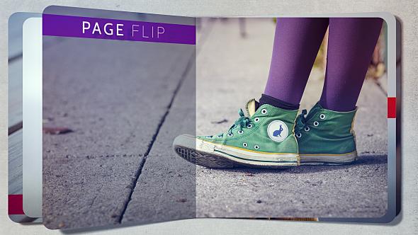 Page Flip kuvaesitys - Abstract Video Näyttää After Effects Project Files