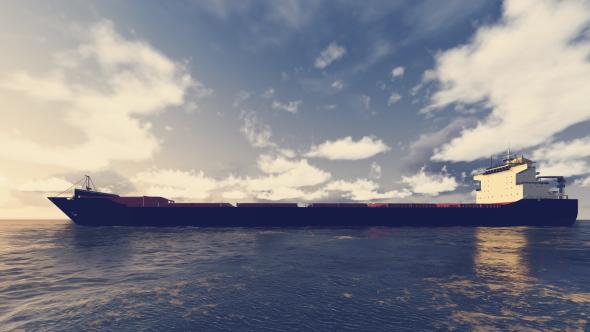 3D rahtilaiva On The Sea - 3D, Object Taustat Motion Graphics
