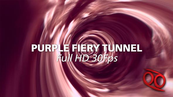 Purple Fiery Tunnel - Taustat Motion Graphics