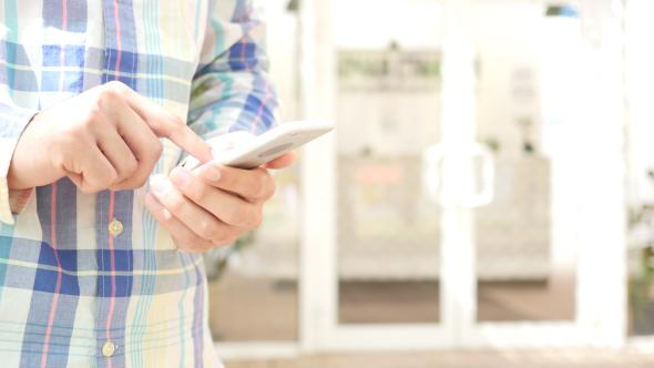 Matkapuhelin Messaging, Outdoor - Teknologia Arkistofilmit