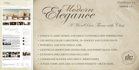 ThemeForest Modern Elegance A WordPress Theme with Class 1603260