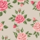 Seamless Pattern With Vintage Roses. Decorative