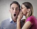 Couple gossiping