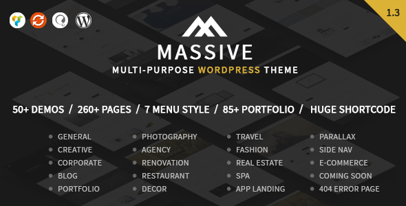 Download Massive - Responsive Multi-Purpose WordPress Theme nulled download