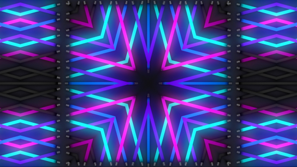 VideoHive Neon Light Kaleidoscope 16142296