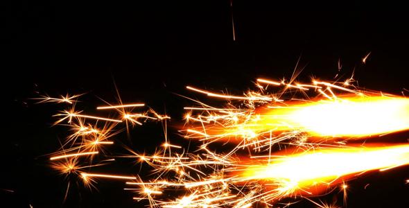 Sparks Flame Light Fireworks 4 - Industrial Arkistofilmit