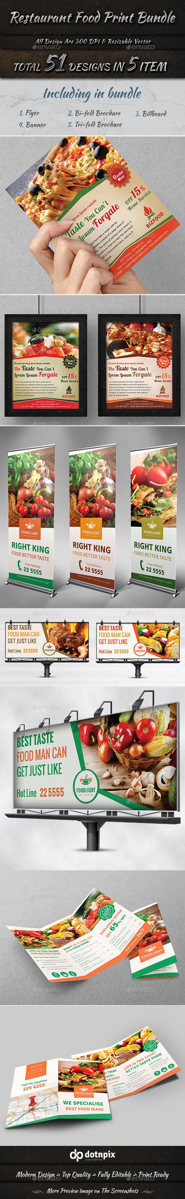 Restaurant Food Print Bundle