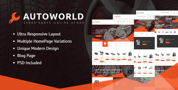 Autoworld - Spare Parts Responsive Prestashop Theme
