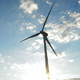 Wind Turbine Energy at Sunset