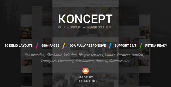 Download Koncept - Responsive Multi-Concept WordPress Theme nulled download