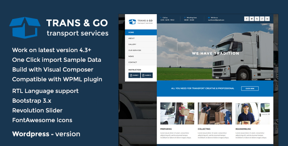 Download TransGo - Transport & Logistics WordPress Theme nulled download